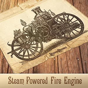 Vector art of Steam Engine Fire Truck