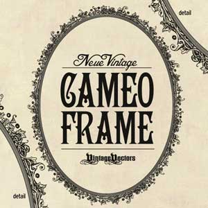 Thumbnail image for Neue Vintage Cameo Frame Oval Vector