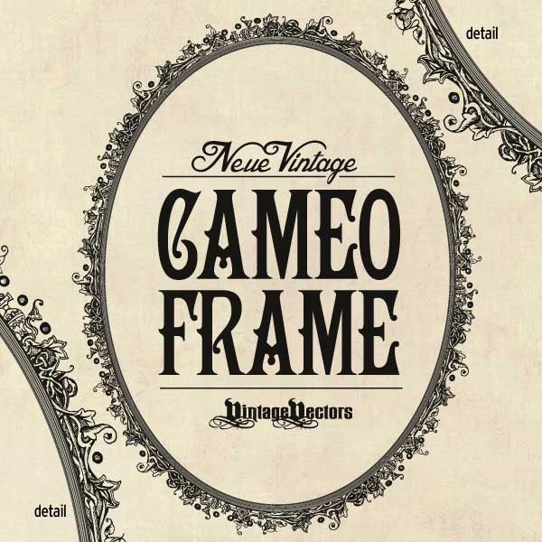 Post image for Neue Vintage Cameo Frame Oval Vector