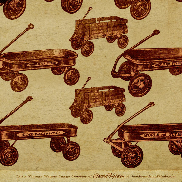 little red wagon vectors