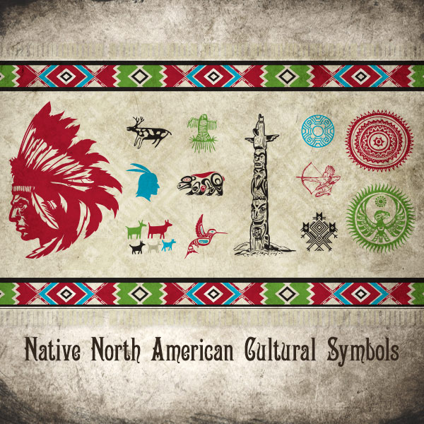 Vector art of Native North American Cultural Icons