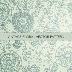 Vintage Floral Vector Pattern